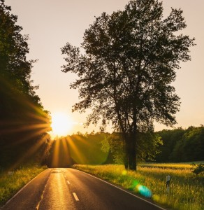 Straße Sonne